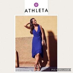 "Athleta ""Windward wrap"" Black dress"
